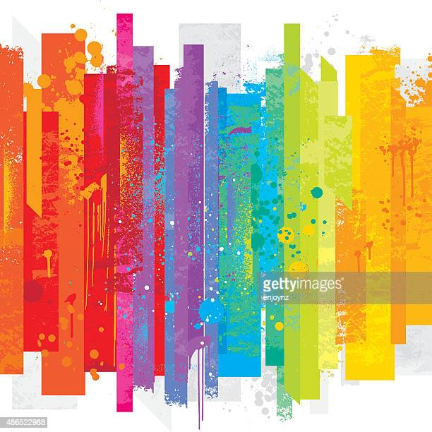 grunge rainbow background - bright colour stock illustrations