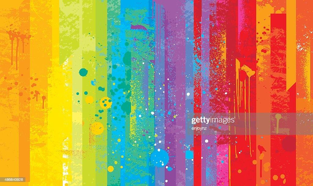 Fundo de arco-íris Grunge : Ilustração de stock