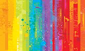 Grunge rainbow background