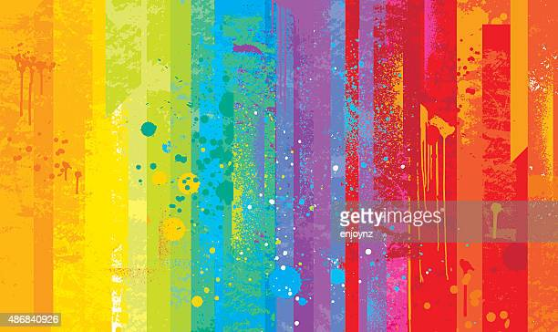 grunge rainbow background - multi coloured stock illustrations