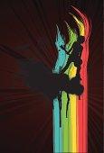 Grunge Rainbow City Guitar player