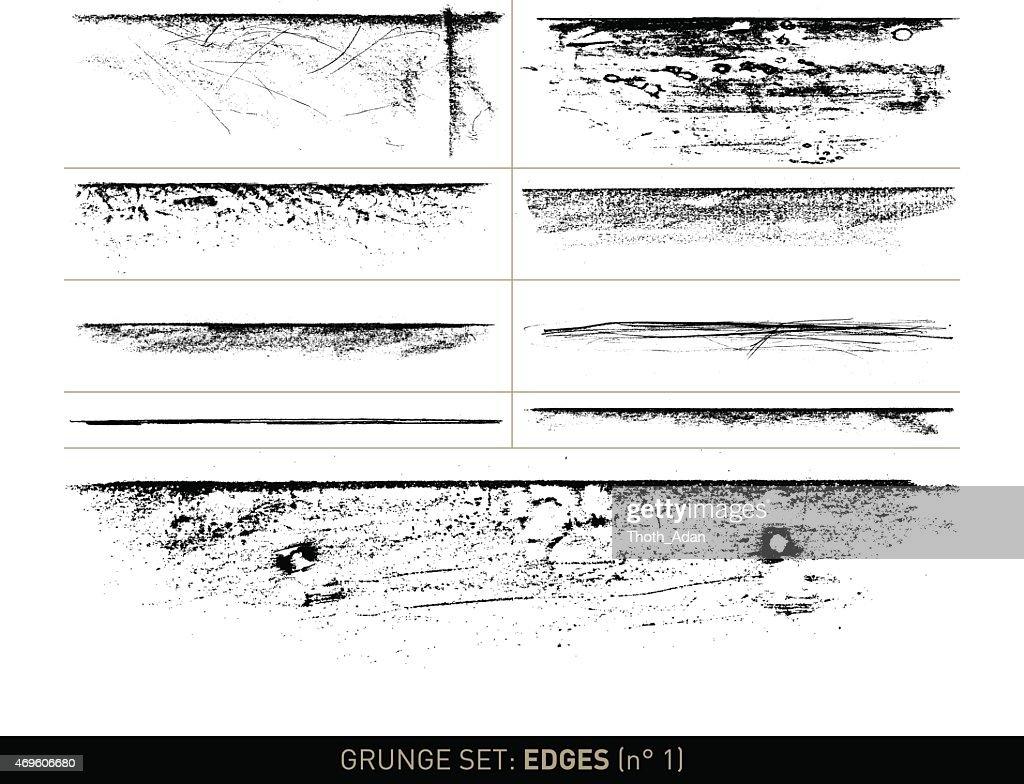 Grunge set: Edge elements in b/w · n° 1