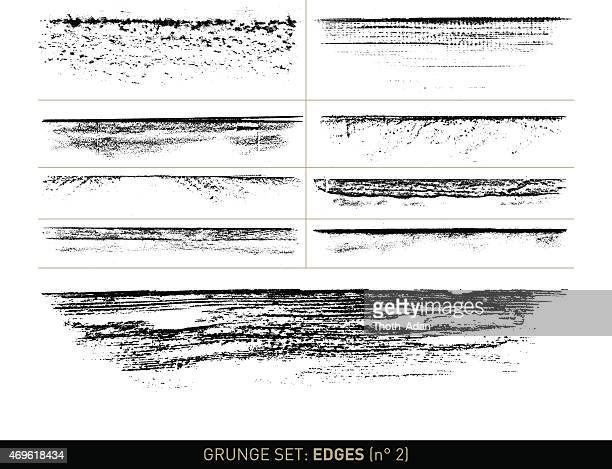 grunge set: edge elements in b/w · n° 2 - at the edge of stock illustrations