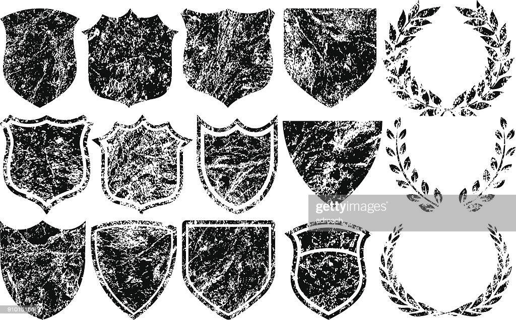 Grunge Shields and Logos