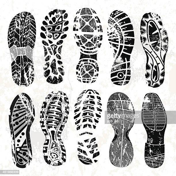 Grunge shoe tracks