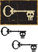 Grunge Skeleton Key