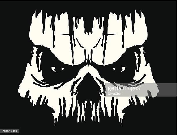 grunge skull - zombie stock illustrations, clip art, cartoons, & icons