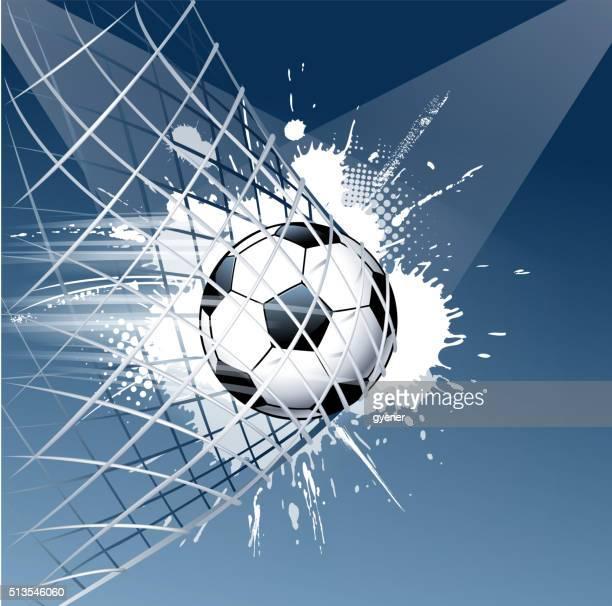 grunge soccer ball goal - american football ball stock illustrations, clip art, cartoons, & icons