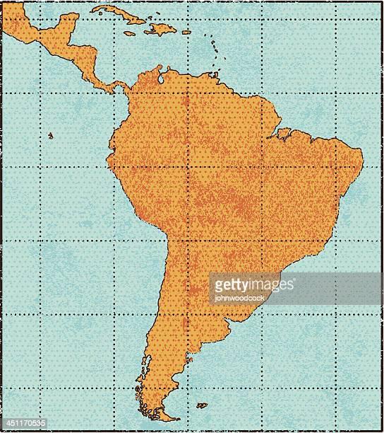 Grunge South America map