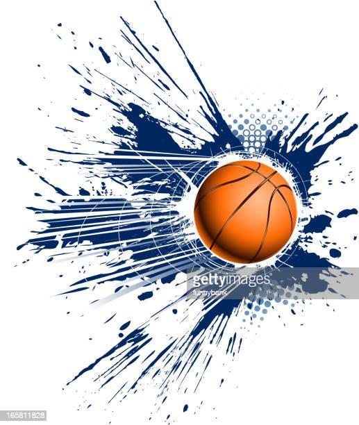 ilustraciones, imágenes clip art, dibujos animados e iconos de stock de grunge de baloncesto - baloncesto