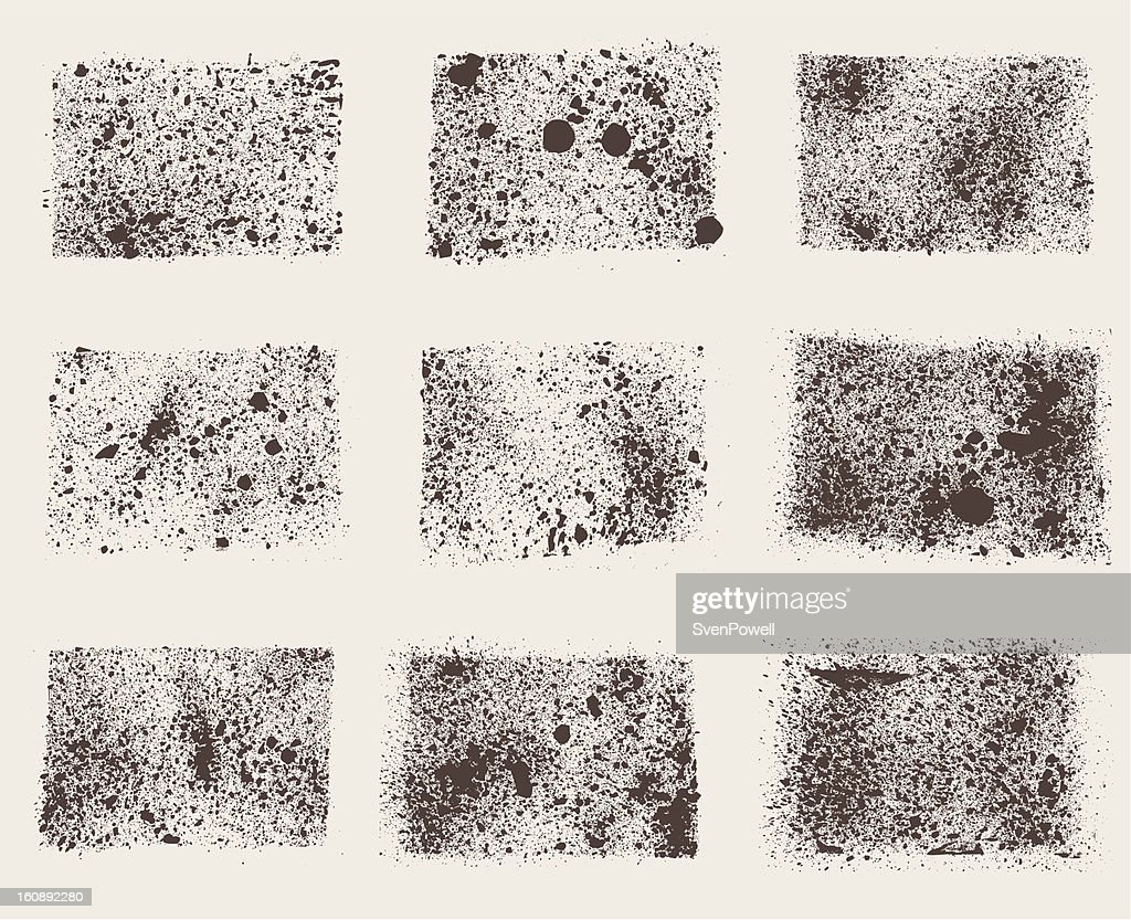 grunge splattered squares collection