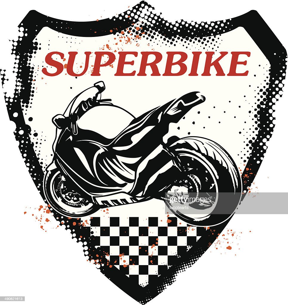 grunge sport shield with super bike