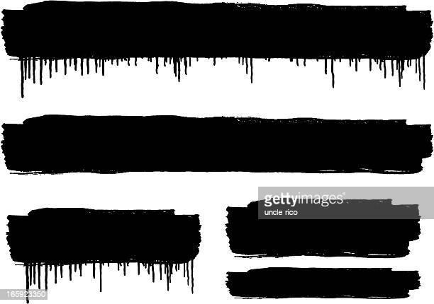 Grunge spray paint banner