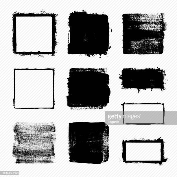 grunge squares - shape stock illustrations