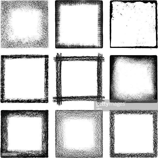 grunge squares - run down stock illustrations, clip art, cartoons, & icons