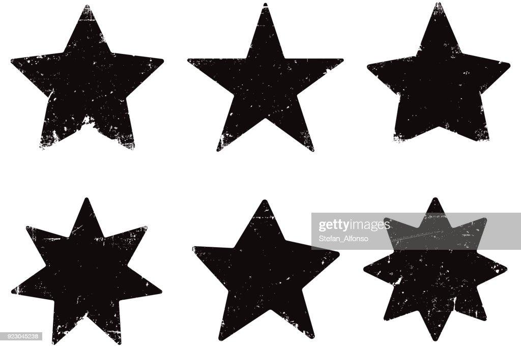 Grunge stars : stock illustration