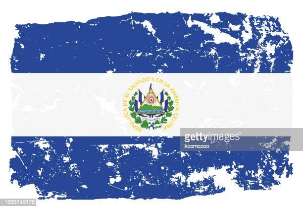 エルサルバドルのグランジスタイルの旗 - エルサルバドル国旗点のイラスト素材/クリップアート素材/マンガ素材/アイコン素材