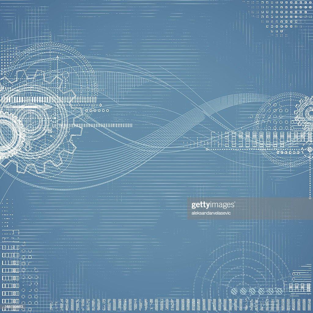 Grunge Technical Drawing-Blueprint