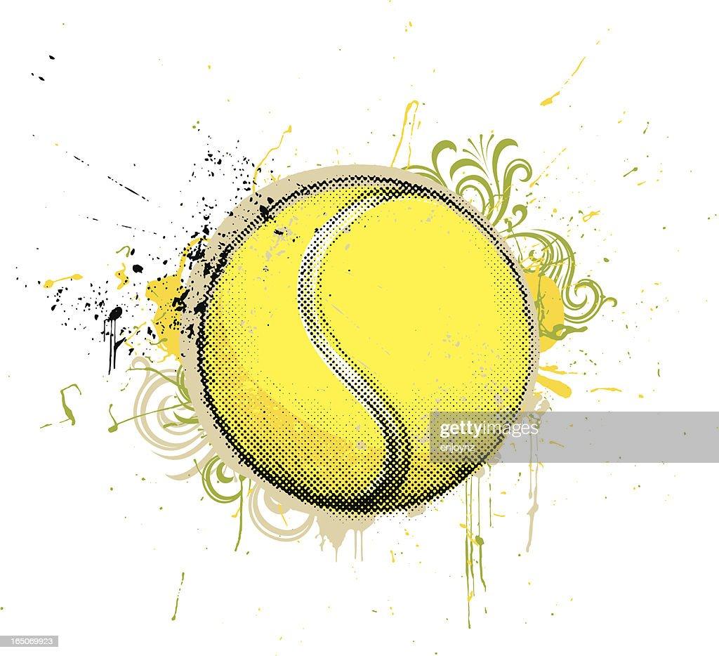 grunge tennis ball