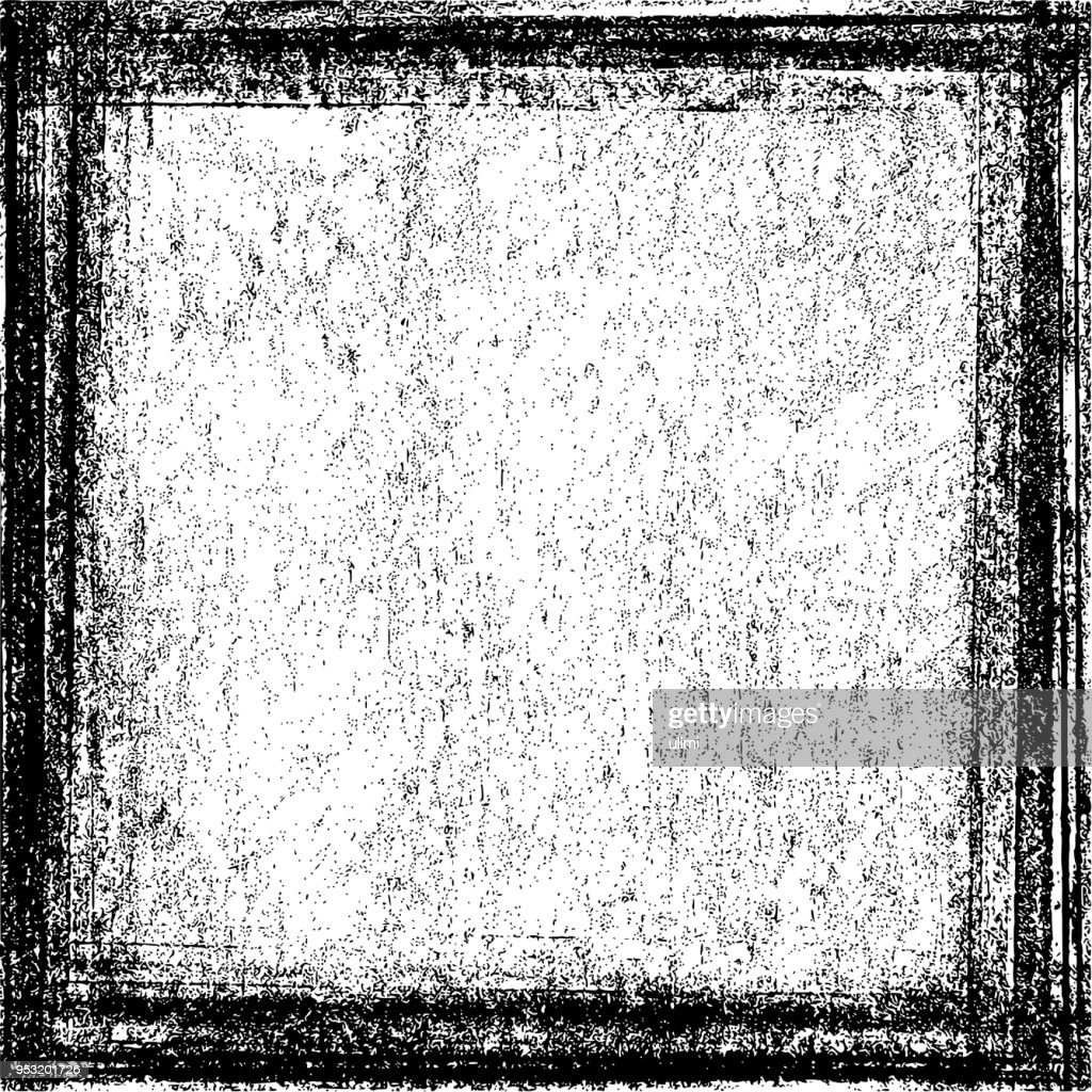 Grunge Texture Background With Frame stock illustration