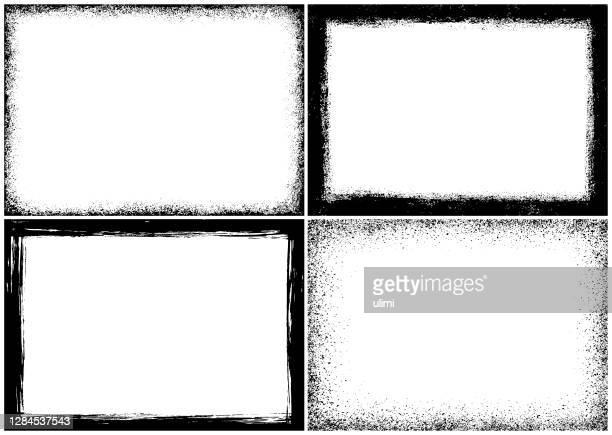 grunge textured frames - at the edge of stock illustrations
