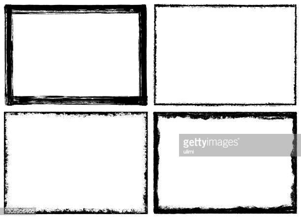 グランジ テクスチャ フレーム - 黒枠点のイラスト素材/クリップアート素材/マンガ素材/アイコン素材
