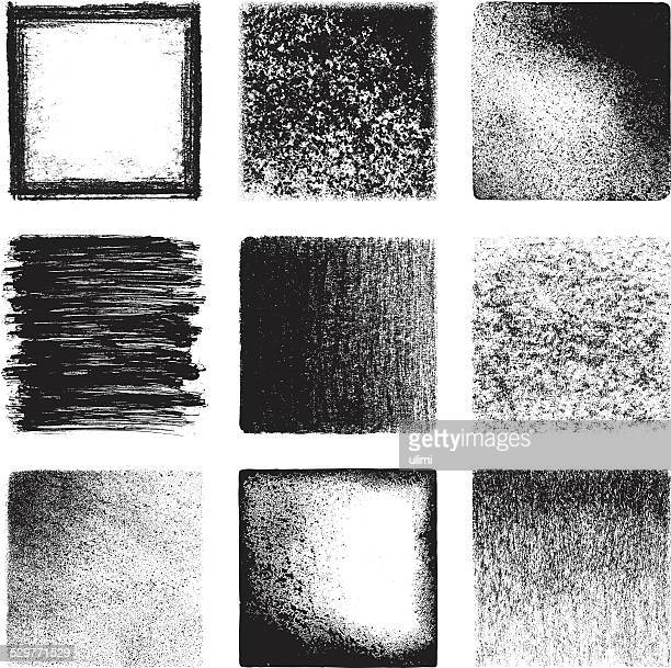 grunge textures - chalk art equipment stock illustrations, clip art, cartoons, & icons