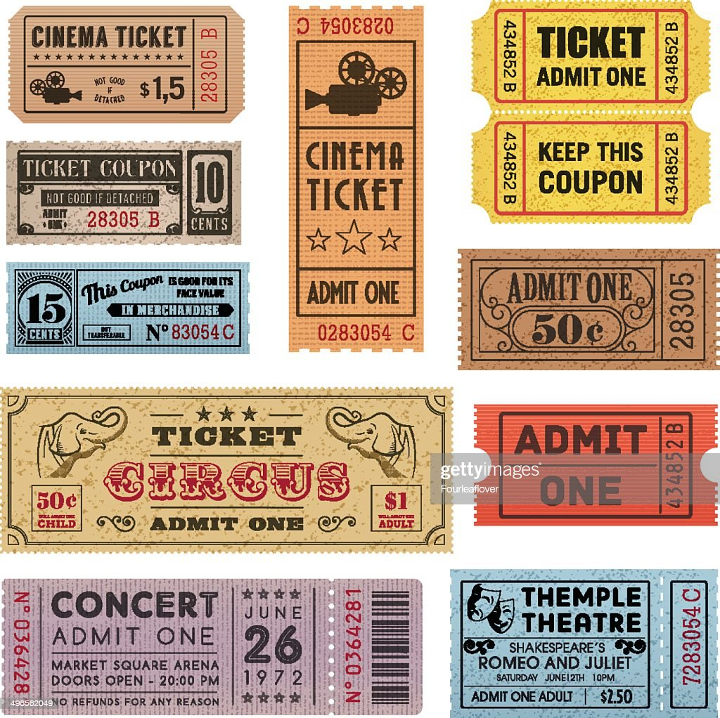 Grunge Tickets Collection 1