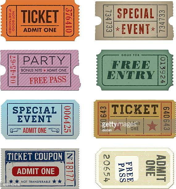 Grunge Tickets Collection - Illustration