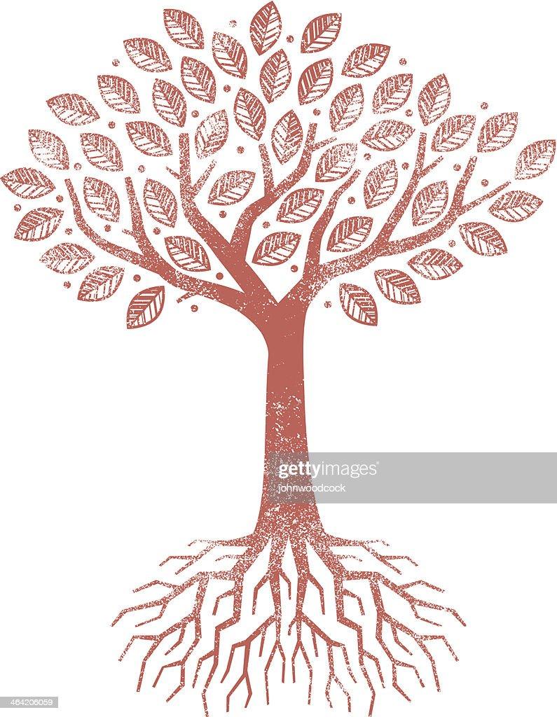 Grunge tree illustration