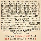 Grunge typewriter font