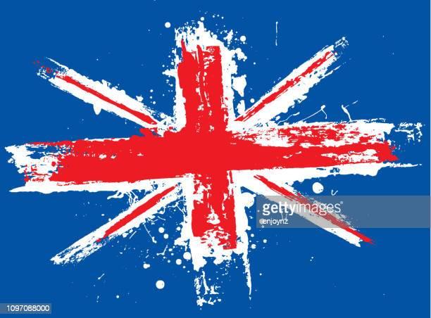 grunge union jack - all european flags stock illustrations