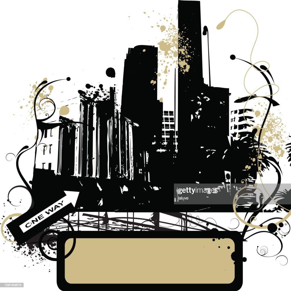 Grunge urban city