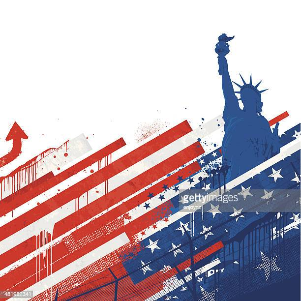 grunge usa background - free wallpapers stock illustrations