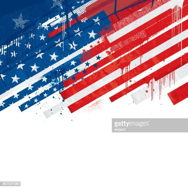 Grunge USA background