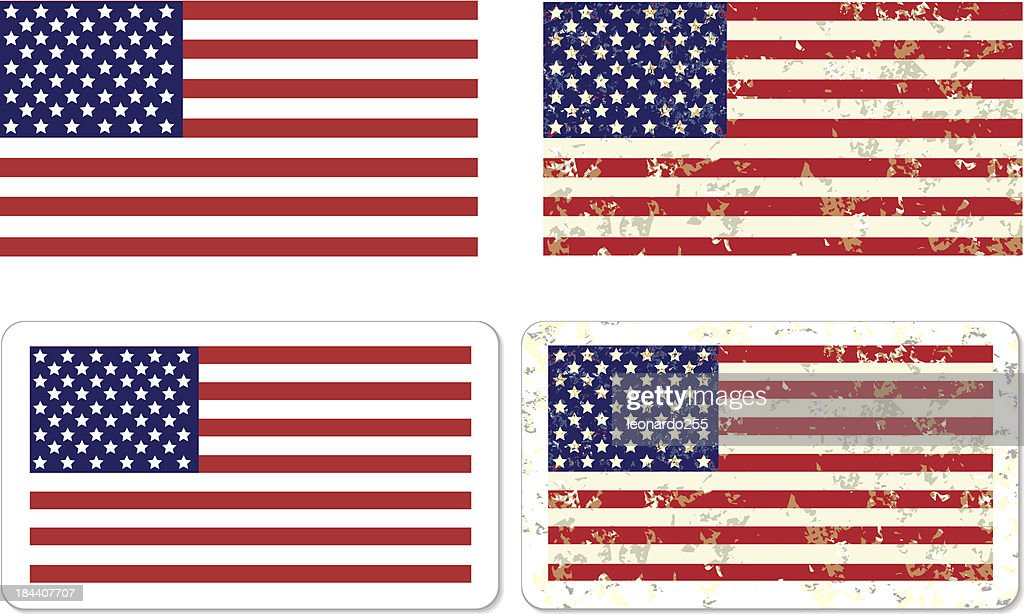 Grunge USA Flag STICKER