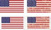 Grunge USA Flag STICKER