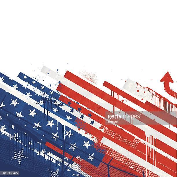 Bandiera del Grunge di Stati Uniti d'America