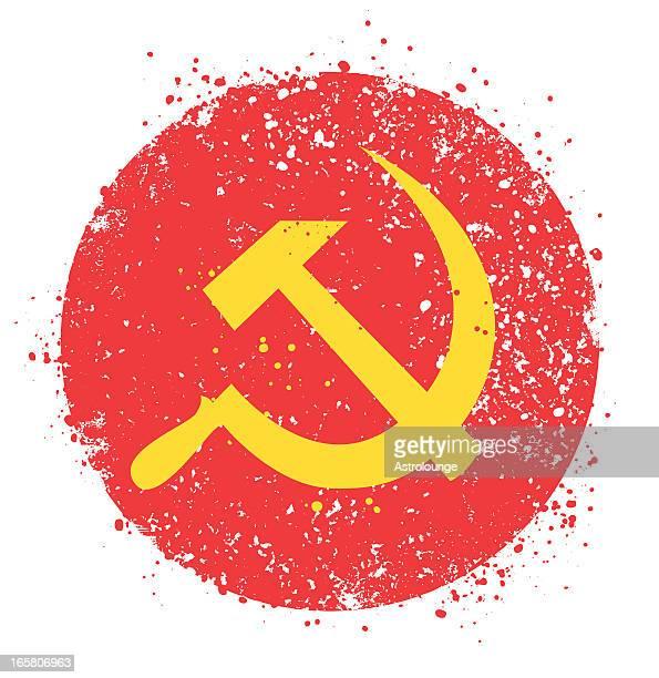 ilustraciones, imágenes clip art, dibujos animados e iconos de stock de grunge símbolo de la ex unión soviética - socialismo