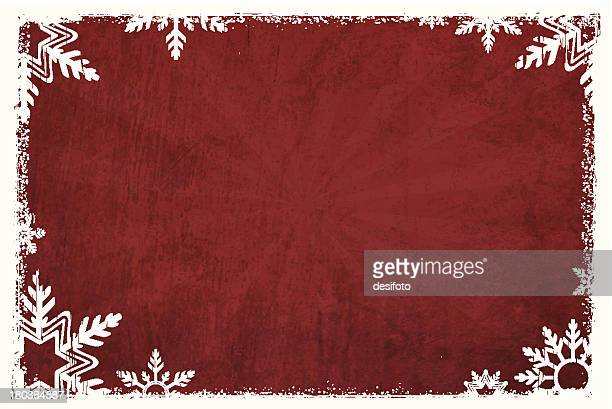 grunge vector christmas background - maroon stock illustrations, clip art, cartoons, & icons
