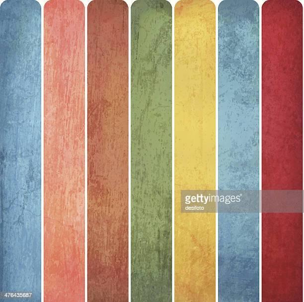 grunge vector multicolored bars - run down stock illustrations, clip art, cartoons, & icons
