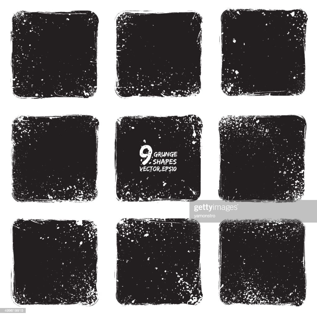 Grunge vector textured shapes