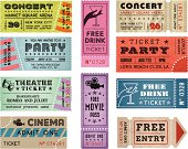 Grunge Vector Tickets Collection 3
