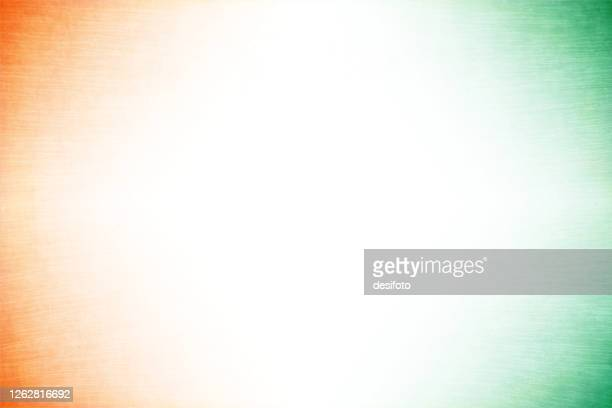 grunge vector tricolour background with an off white centre and orange or saffron and green colour at the corners - independence stock illustrations