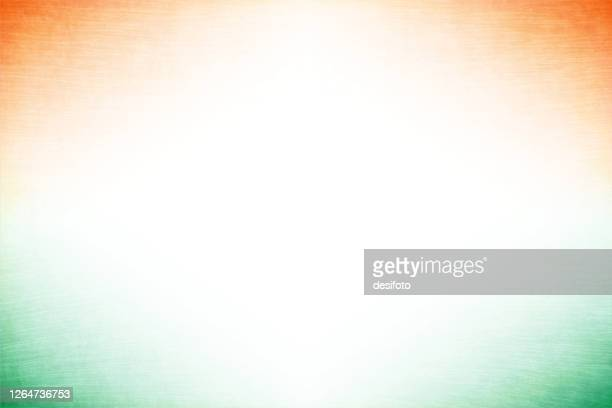 grunge vector tricolour background with an off white centre and orange or saffron and green colour at all four corners - independence stock illustrations