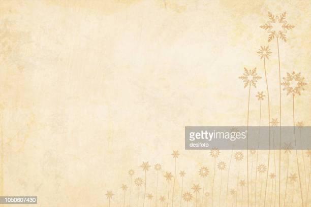 グランジ ベクトル クリスマス背景。異なるを介して突出の花でベージュのビンテージ紙サイズ茎です。 - 大昔の点のイラスト素材/クリップアート素材/マンガ素材/アイコン素材