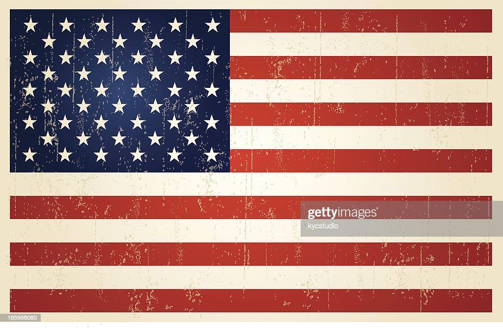 USA grunge vintage flag