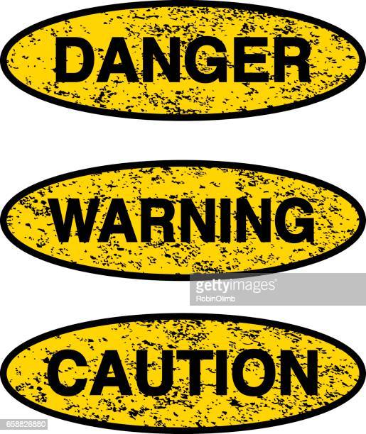grunge warning signs - safety american football player stock illustrations, clip art, cartoons, & icons