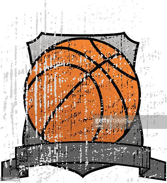 grungy basketball trophy - drive ball sports stock illustrations, clip art, cartoons, & icons