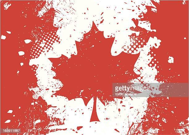 grungy canada flag - canadian flag stock illustrations